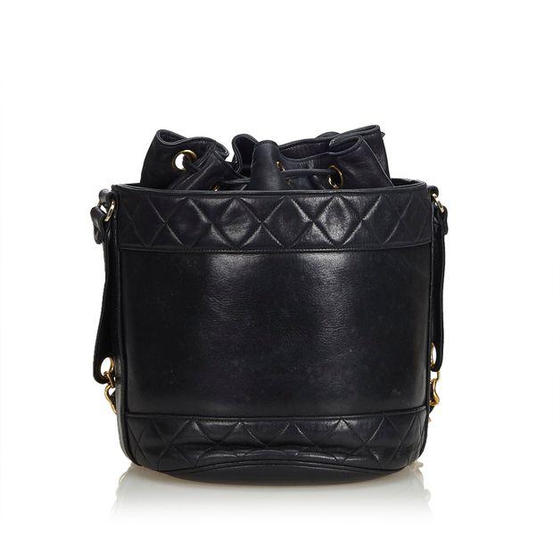 e3248c0fe9721a Matelasse Lambskin Leather Bucket Bag by CHANEL   StyleTribute.com