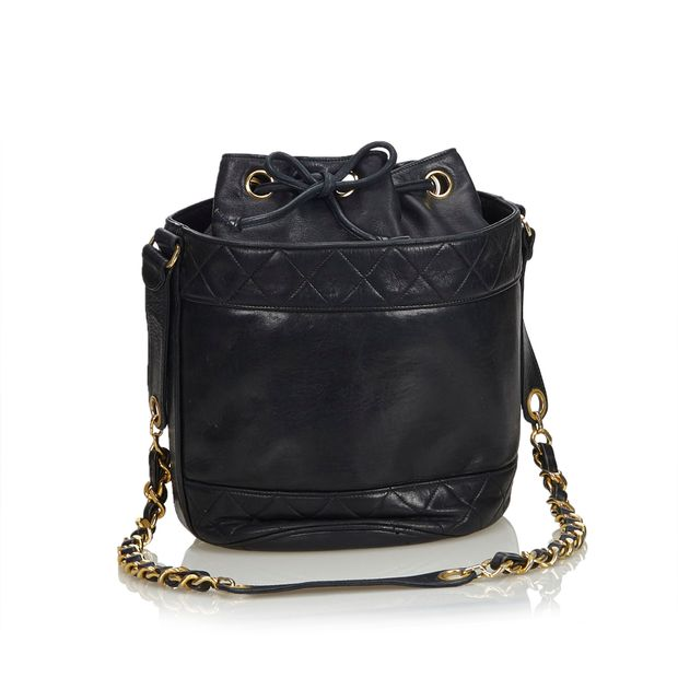 6d4997a8f4e3 Matelasse Lambskin Leather Bucket Bag by CHANEL | StyleTribute.com
