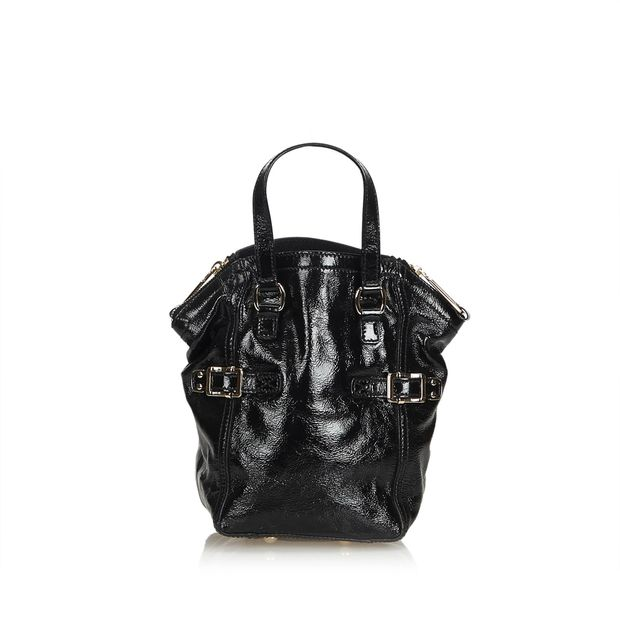 c8decf210ae Patent Leather Mini Downtown by YVES SAINT LAURENT | StyleTribute.com