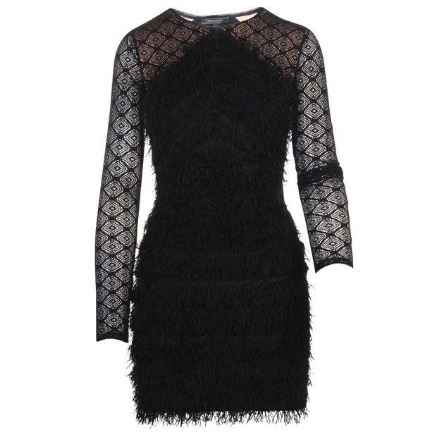 88dea53acb1 BCBGMAXAZRIA Black Laced Dress 0 thumbnail