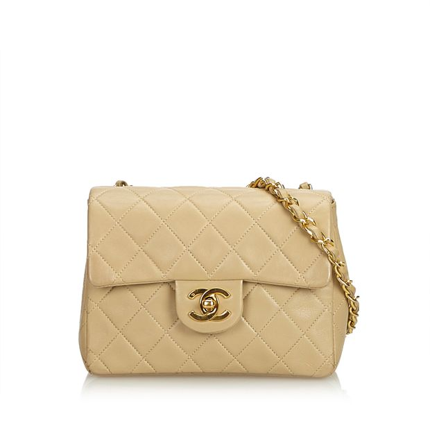 42e30e27c0db10 Classic Mini Square Lambskin Leather Single Flap Bag by CHANEL ...