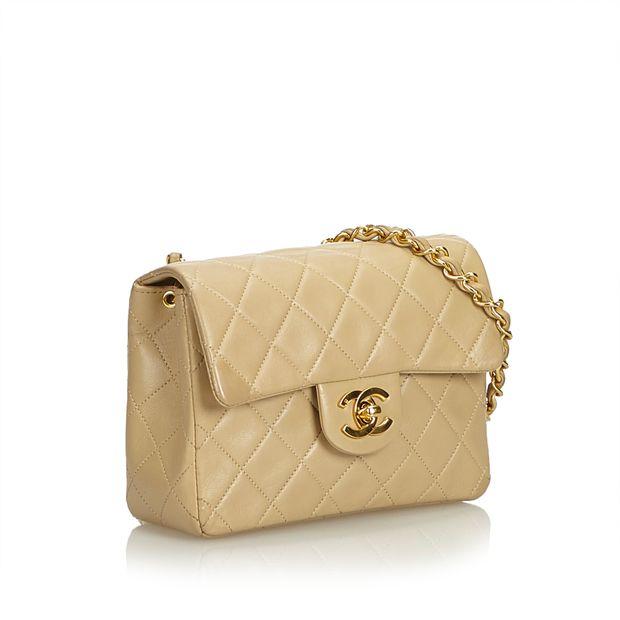 eafe446df4d1 CHANEL Classic Mini Square Lambskin Leather Single Flap Bag 1 thumbnail