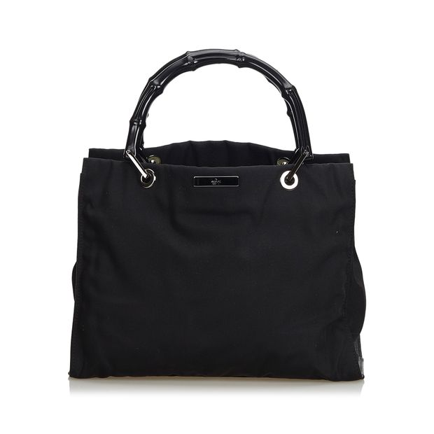 3b2a72e60ec3 Bamboo Nylon Handbag by GUCCI | StyleTribute.com