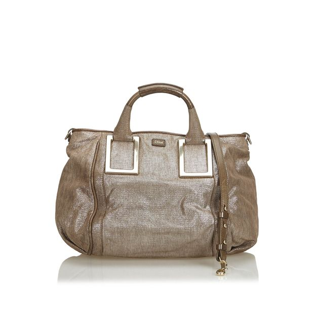 5233c633ef Metallic Leather Ethel Satchel by CHLOÉ   StyleTribute.com