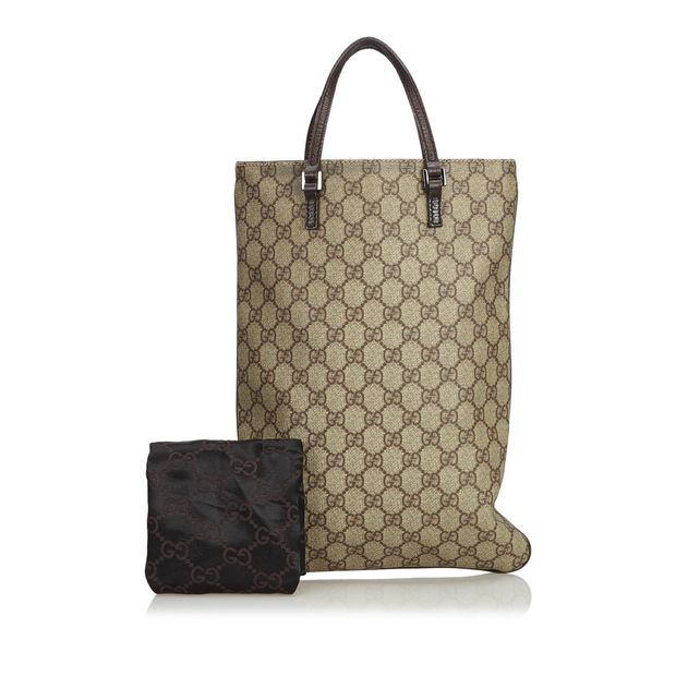 77aab819d1bb GG Supreme Coated Canvas Tote Bag by GUCCI | StyleTribute.com