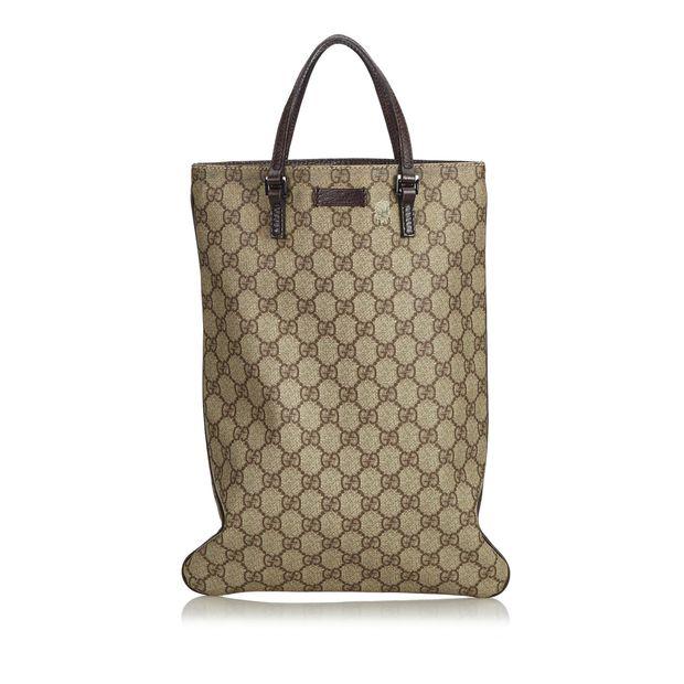 24df1386eb8fce GG Supreme Coated Canvas Tote Bag by GUCCI | StyleTribute.com