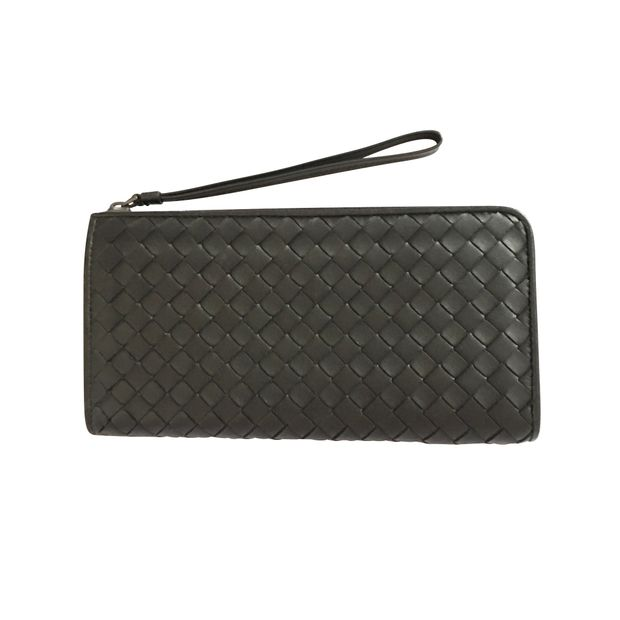 14cef961bec5d Nero Intrecciato Nappa Zip-Around Wallet by BOTTEGA VENETA ...