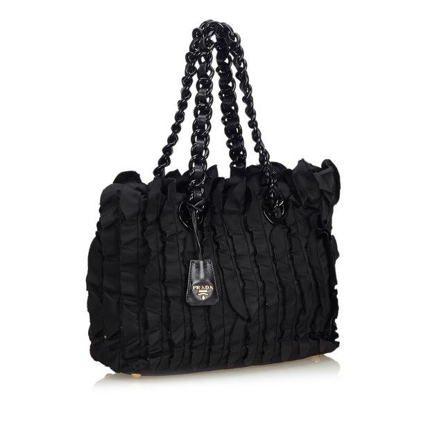 1c1dfa832c43b8 Ruffled Nylon Tote Bag by PRADA | StyleTribute.com