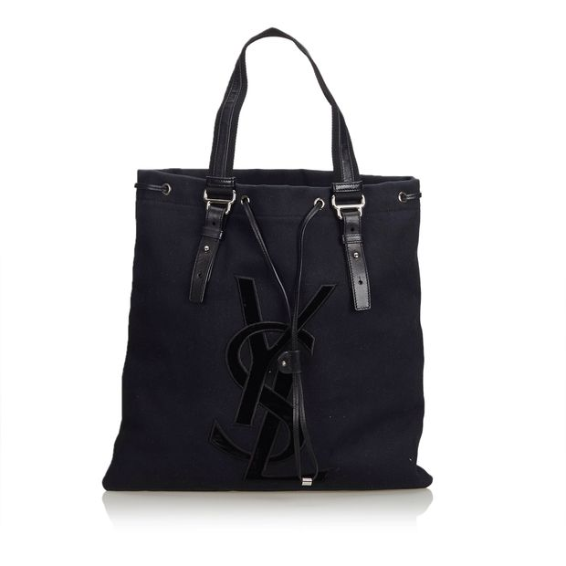 00555ab6bd0 Canvas Kahala Tote by YVES SAINT LAURENT | StyleTribute.com