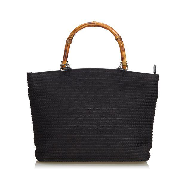 01b0d45502fb Nylon Bamboo Handbag by GUCCI | StyleTribute.com