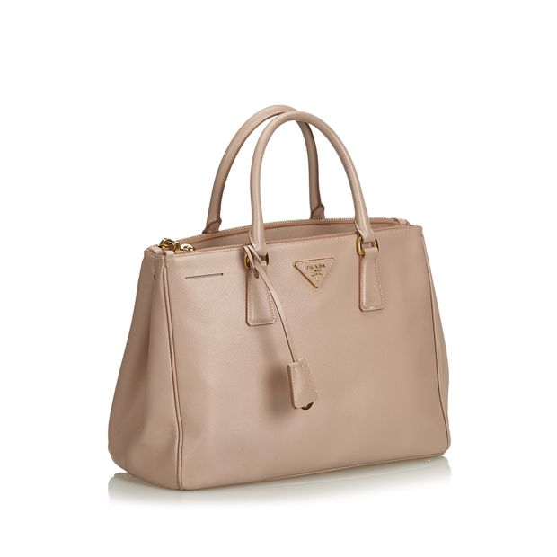 45308b7f217a17 Saffiano Lux Double Zip Galleria Satchel by PRADA | StyleTribute.com