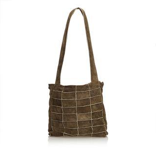 9369ab4c63cfa2 CHANEL. Suede Patchwork Shoulder Bag