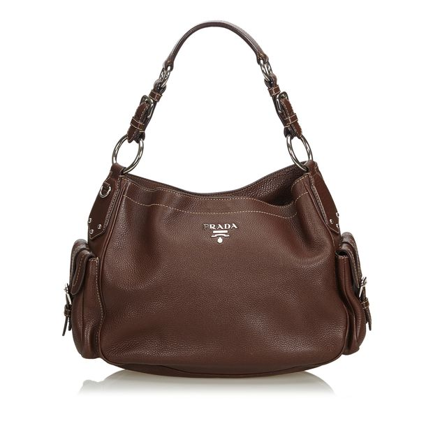 0b12d13ac8c440 Vitello Daino Leather Shoulder Bag by PRADA | StyleTribute.com