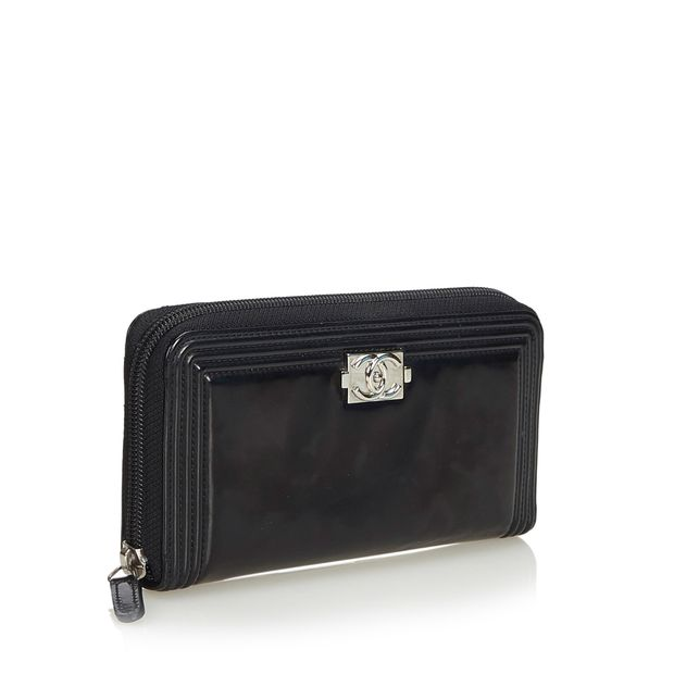 0e2c37831241 Patent Leather Boy Long Wallet by CHANEL | StyleTribute.com