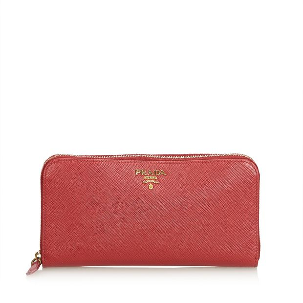 234a7ab0ccc9 Saffiano Leather Continental Long Wallet by PRADA | StyleTribute.com
