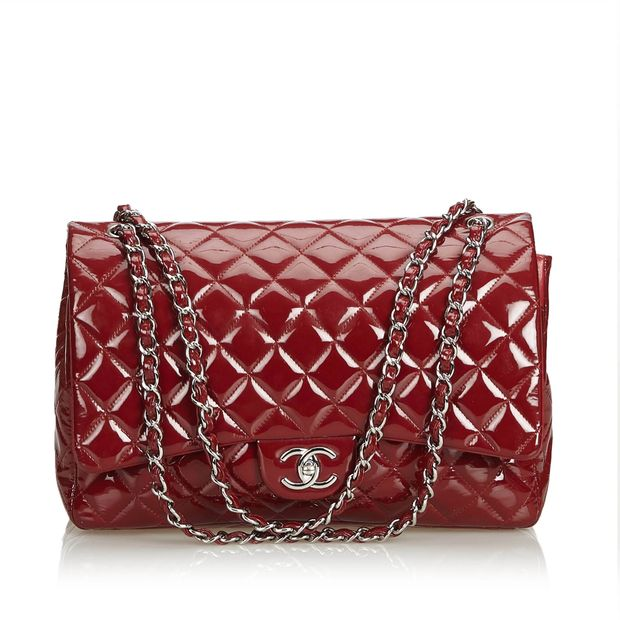 3072d37faa47 Classic Maxi Patent Leather Double Flap Bag by CHANEL