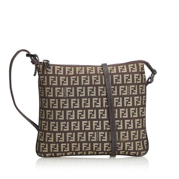 68a1d79a4 Zucchino Canvas Crossbody Bag by FENDI | StyleTribute.com
