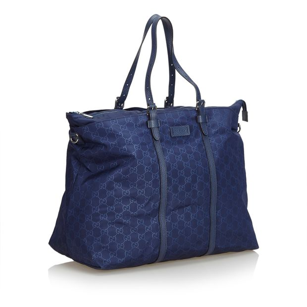 44732d5db42e GG Nylon Travel Bag by GUCCI   StyleTribute.com
