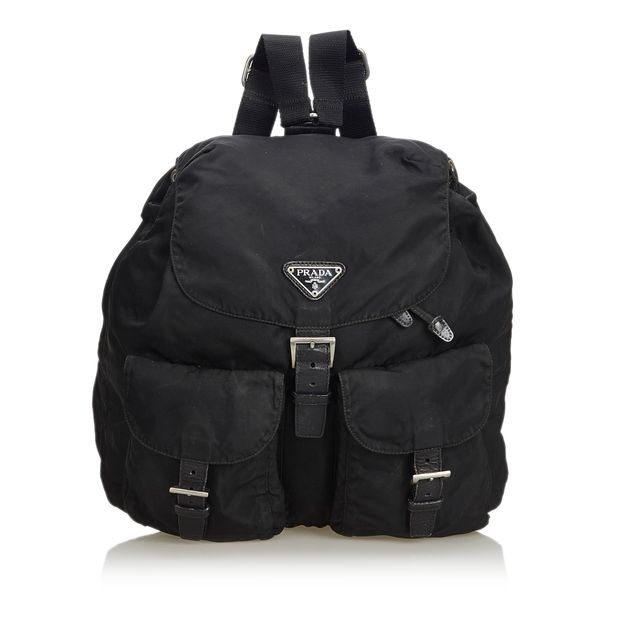 d94c7d05bf33 Nylon Drawstring Backpack by PRADA | StyleTribute.com