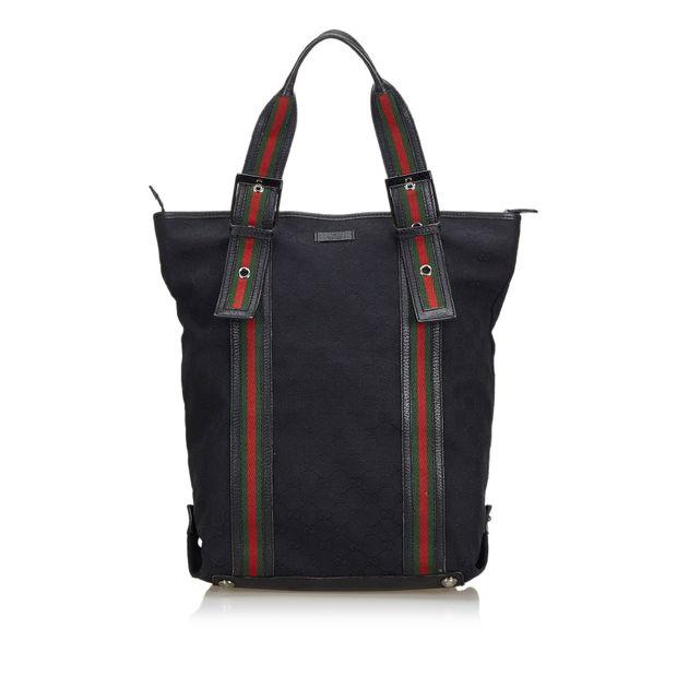 2696b59bd44 GG Web Nylon Tote Bag by GUCCI | StyleTribute.com