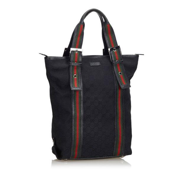 c724e9c6853f GG Web Nylon Tote Bag by GUCCI   StyleTribute.com