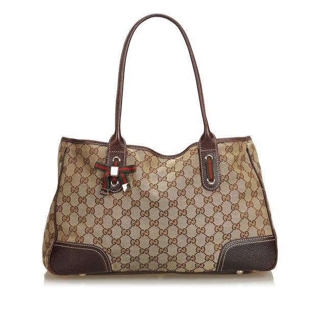 60991281d GUCCI GG Canvas Princy Tote Bag GUCCI GG Canvas Princy Tote Bag zoomed