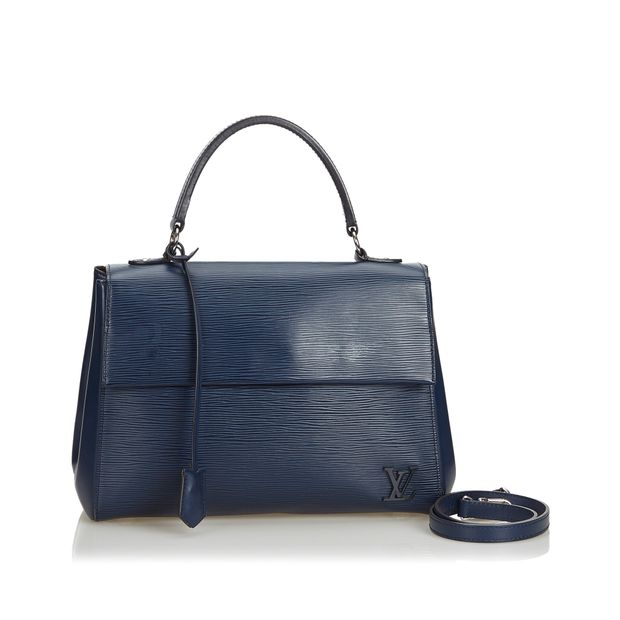 ead007f5c6aa3e Black Epi Leather Cluny MM France by LOUIS VUITTON   StyleTribute.com