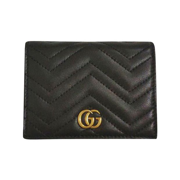 a5ecd79858 GG Marmont Leather Wallet Card Case