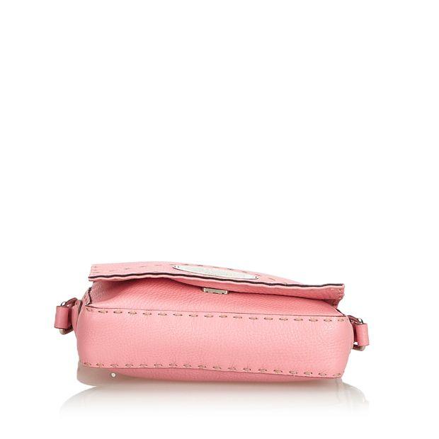 de726b3852 Pink Leather Selleria Crossbody Bag Italy by FENDI | StyleTribute.com
