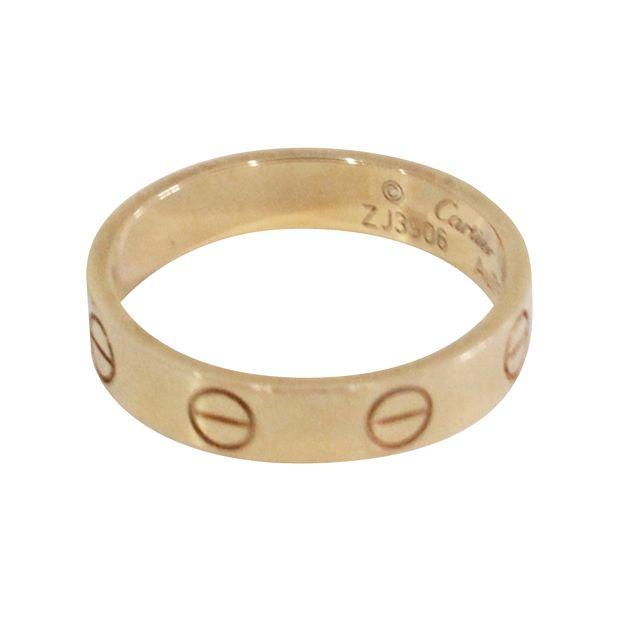 Cartier Wedding Band.Wedding Band Pink Gold Ring