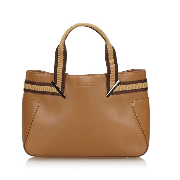 93a24fc9c Brown Light Leather Tote Bag Italy by GUCCI | StyleTribute.com